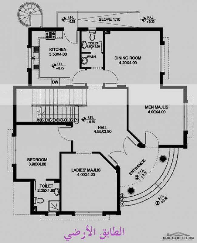 وحدة سكنية دور ارضي و اول مساحة الدور 140 متر مربع من اعمال القصور للاستشارات الهندسية