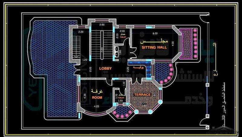 تصميم فيلا سكنية نظام دوبليكس مساحة البناء ٢٠٠ متر مربع ومساحة الارض ٣٦٠ متر مربع بلمسات رائعة . مكتب يمن ديزاين للاستشارات
