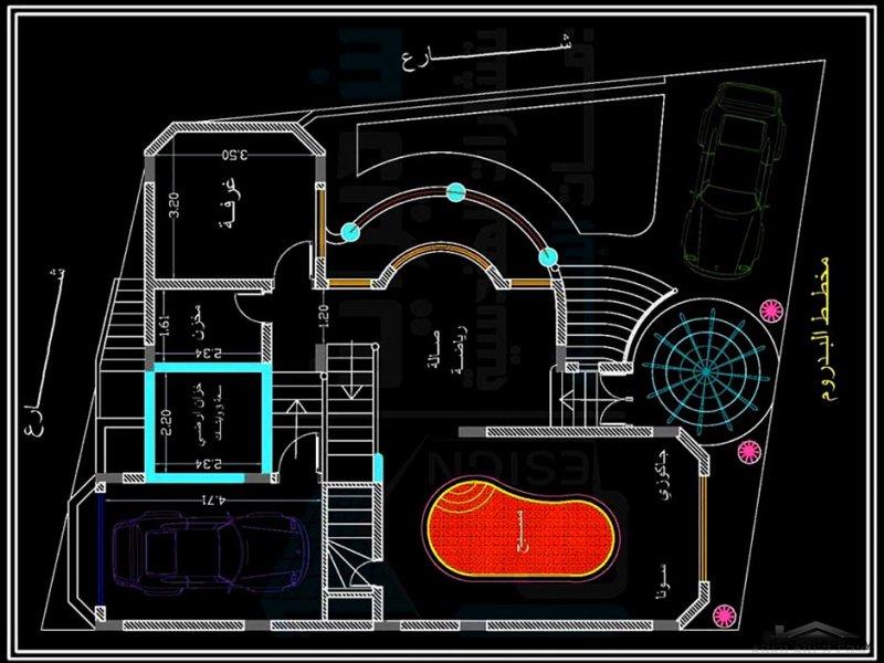 تصميم فيلا صغيرة ميني مساحة البناء ١٠٠ متر مربع ومساحة الارض ١٧٠ متر مربع . تصميم بلمسات إبداعية نظام دوبليكس. (مكتب يمن ديزاين للاستشارات الهندسية وخ