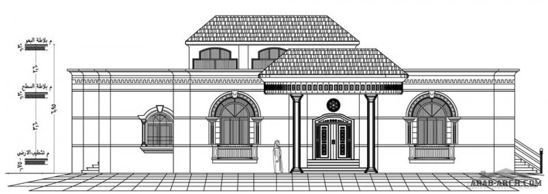 خطة فيلا طابق واحد بالطائف  من اعمال م.محمد سليم للتصميم والاشراف