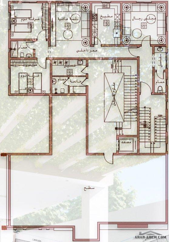 احدث تصميم فيلا دورين و ملحق مع شقق خلفية من اعمال EGYREVIT