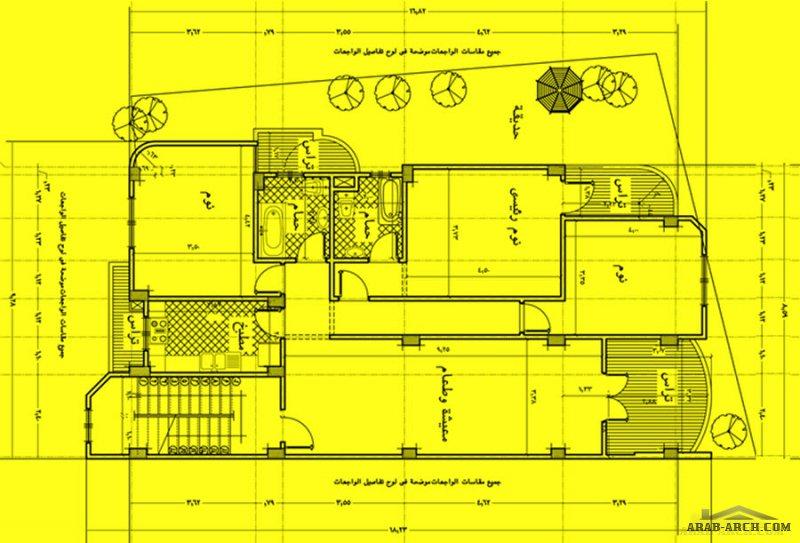 مخطط شاليه توين من اعمال المهندس محمد سليم