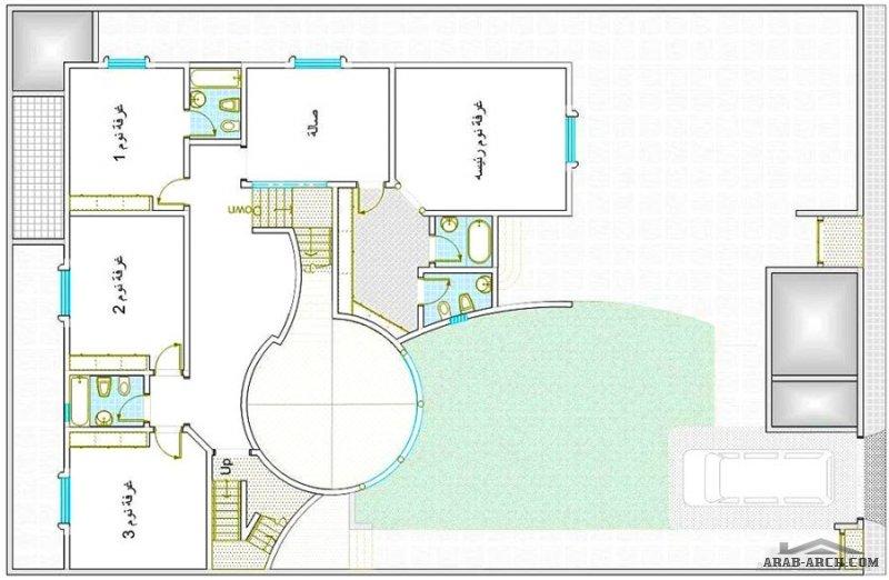 مخطط رائع  بسيط مساحة الارض 600 متر مربع  20*30 متر