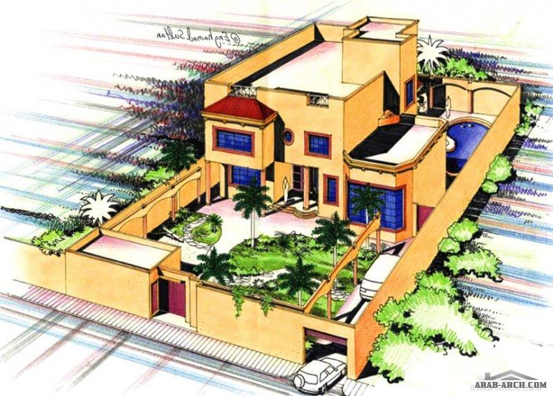 تصاميم فبلات المسكن فكره  مخطط  43 eng.Hamad Sultan