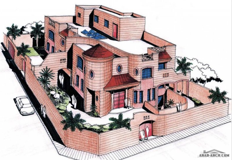فكرة رقم 42 خرائط فيلا سعودي  eng.Hamad Sultan