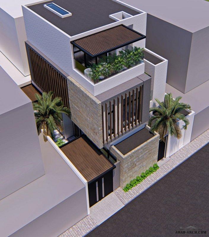 تصاميم فيلا انيقة صغيرة المساحة الارض 15*13 متر من اعمال المعماري : إبراهيم جعفري  - جازان