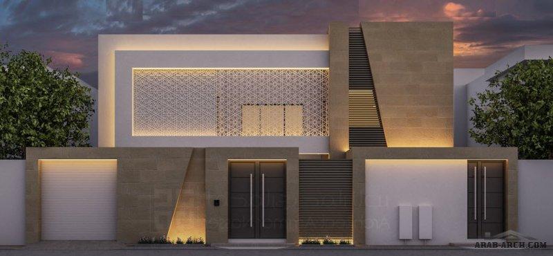 فيلا حديثة بالأحساء  مودرن على ارض 480  من اعمال المبدع المعماري عمار ناصر