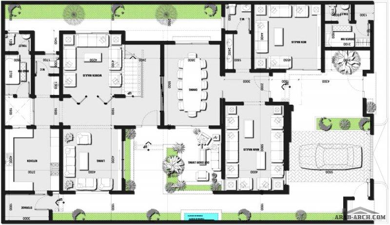 تصميم فيلا مودرن مع استغلال  و توزيع مختلف للمساحات مساحة الطابق الارضي 207 متر مربع و الطابق الاول 166 متر مربع