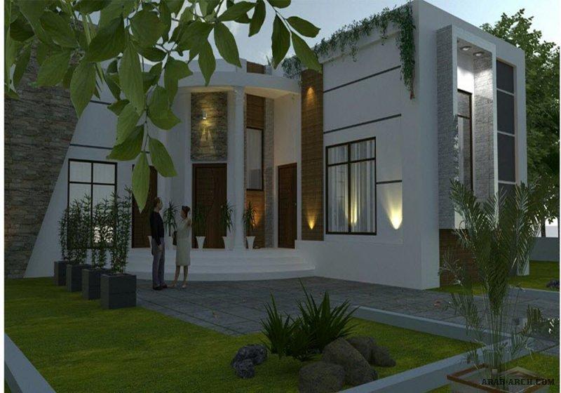 واجهات رائعه لفيلا ممبزة من اعمال معماري بدر ناصر الهدابي