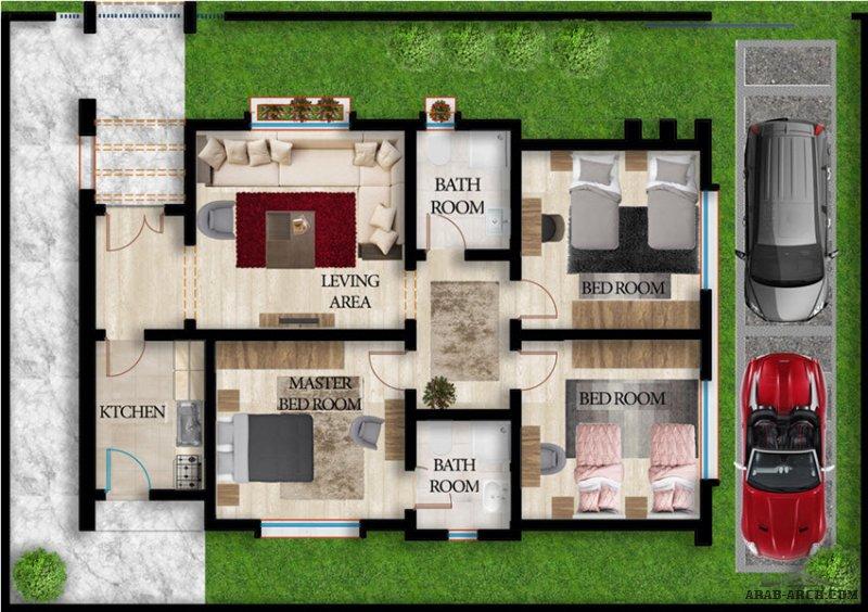 نموذج D مسكن طابق واحد قرية مارينا السكنية ليبيا  - الاسكان الدولي للتسويق العقاري