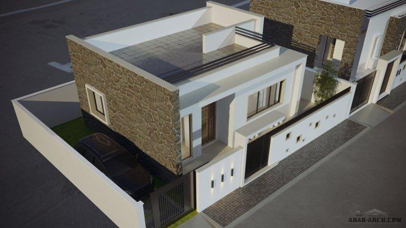 نموذج A مسكن ليبي صغير المساحة من قرية مارينا السكنية ليبيا من اعمال شركة الإسكان الدولي للتسويق العقاري