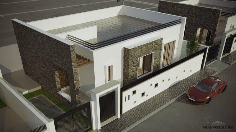 نموذج C مسكن ليبي تصميم صغير المساحة قرية مارينا من اعمال شركة الإسكان الدولي للتسويق العقاري