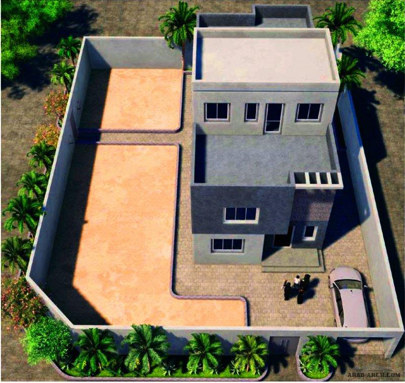 مكارم عرعر نموذج (A) مساحة 308 م 2 تتكون الوحدة من ثلاث طوابق