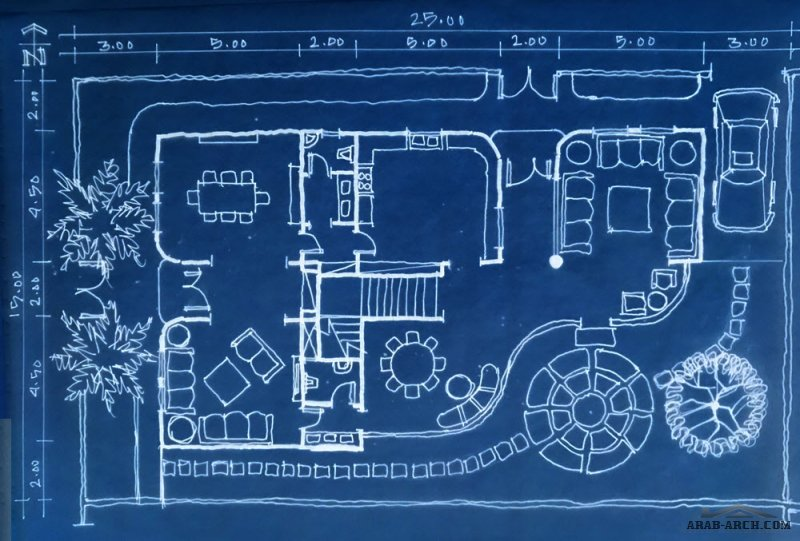 مخطط فيلا  25* 15 متر تم تعديله بواسطة المهندس صلاح الدين الحمود