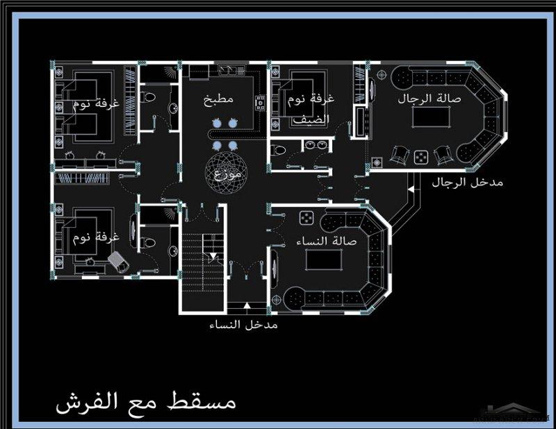 استراحة القصيم - أبو تركي مساحة البناء 210 متر مربع من اعمال معماري Ashraf nassab