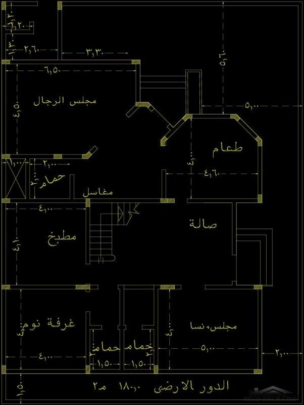 تصاميم فلل  دوبلكس مخطط المعالي أبها  الارض 20*15 متر