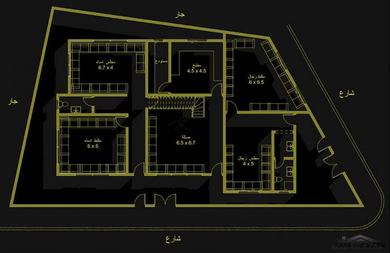 خرائط فيلا في جيزان بواسطة  مصممة معمارية