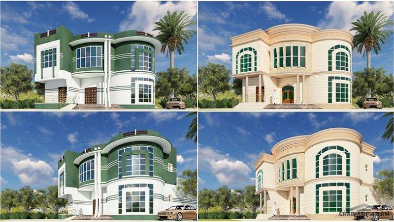 فيلا بتصميم سعودي غرفة نوم دائرية مع جلسة خارجية بالدور العلوي من اعمال Architect Hossam Designs