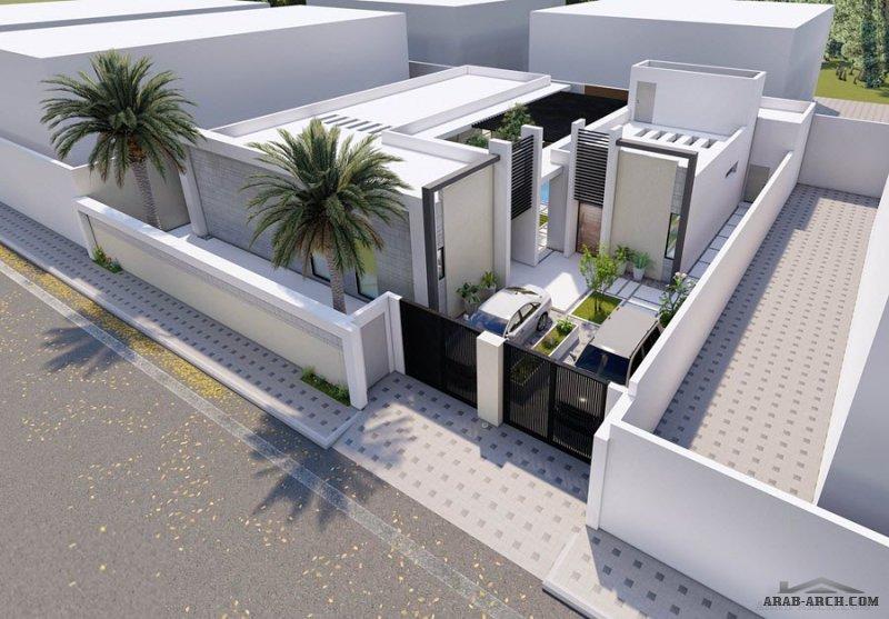 تصميم شاليه استراحة خاصة المدينة المنورة  مساحة الارض 304 متر مربع من اعمال مهندس م/ حسن محاصي