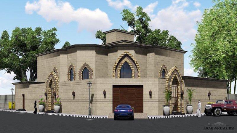 من أعمال  مكتب الراجحي الهندسي فيلا بالمخطط تصميم سعودي حريملاء مقاسات الارض 20*31 متر