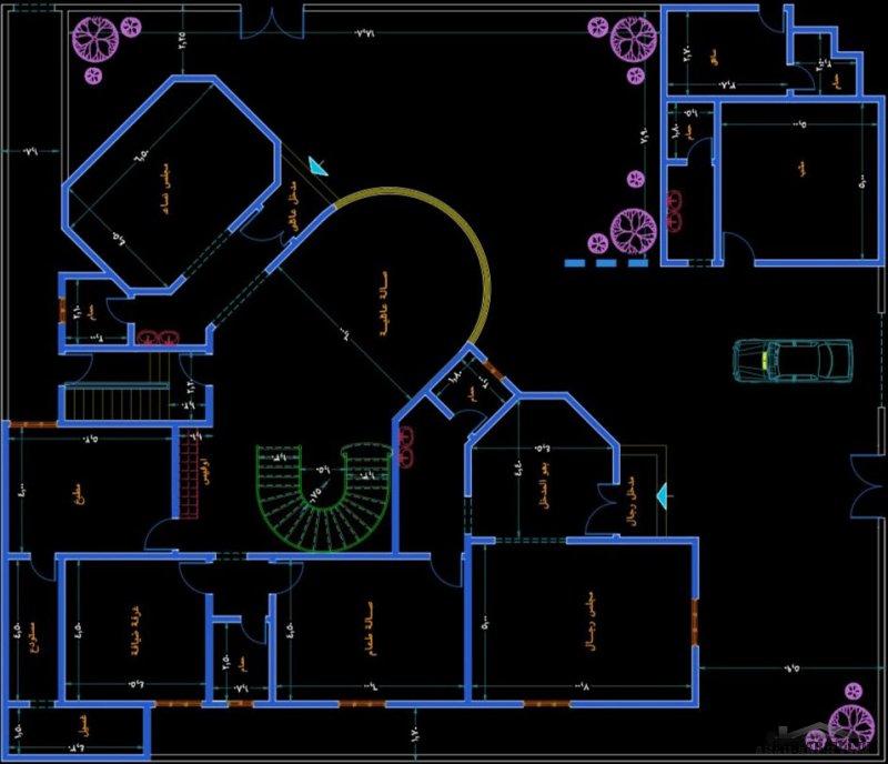مكتب الراجحي الهندسي تصاميم لفيلا مميزة  مقاسات الارض 24*28 متر علي شارعين عليها طلب عالي