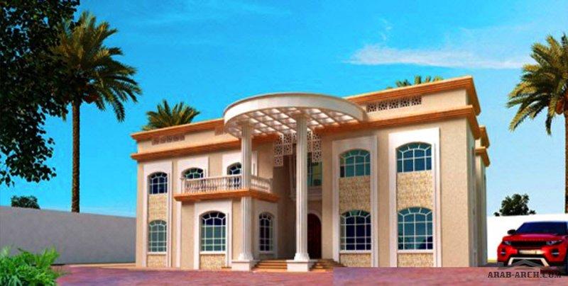 فيلا خليجي بالمساقط 650 متر مربع طابقين 6غرف+1  التصميم ll3