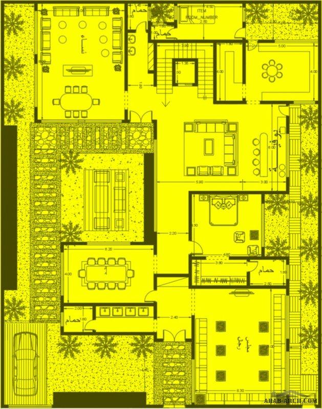 مخطط فلا 22*28 متر مسطح البناء للدور الأرضي 350 متر والدور الأول 300 متر من مشاركات eng_AAww