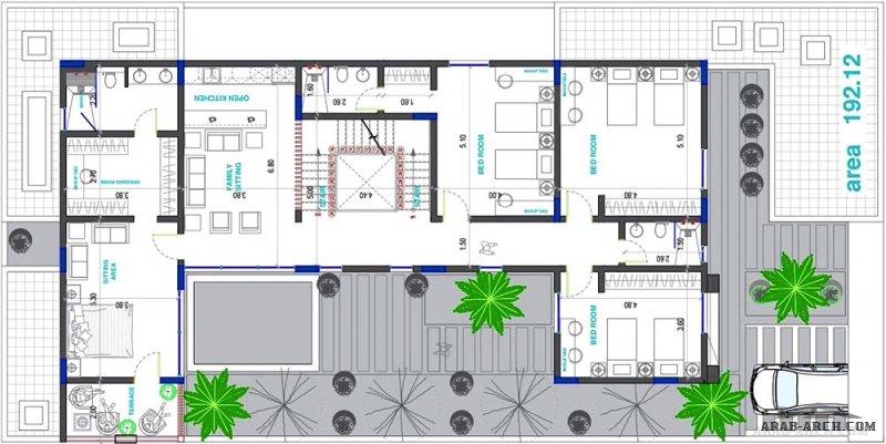 من مبادرات المهندس مالك الجباري تصميم فيلا مقاس الارض 30*15 متر