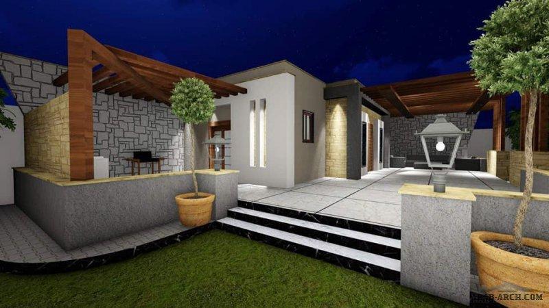 تصميم إستراحة بمسقوف 65 متر مربع بمنطقة تاجوراء من اعمال ZoOm Design
