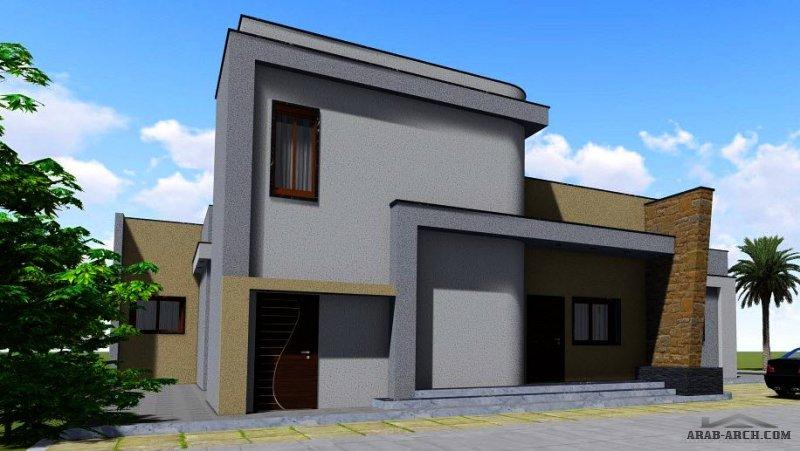 مكتب zO0m للأعمال الهندسية  تصميم منزل من طابق واحد إجمالي مساحةالمسقوف : 228 متر مربع. مساحة الأرض: 500 متر مربع..