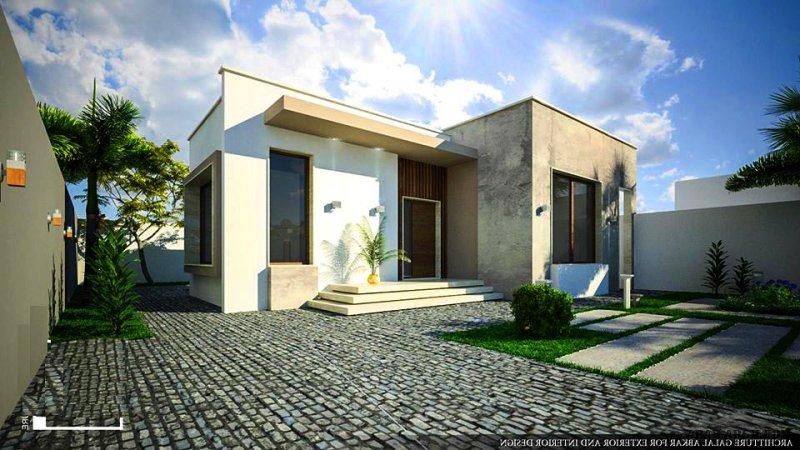 تصميم استراحة   مساحة الارض ( 400 م ) المساحة المسقوفة ( 83 م ) من اعمال Architecture_Galal abkar