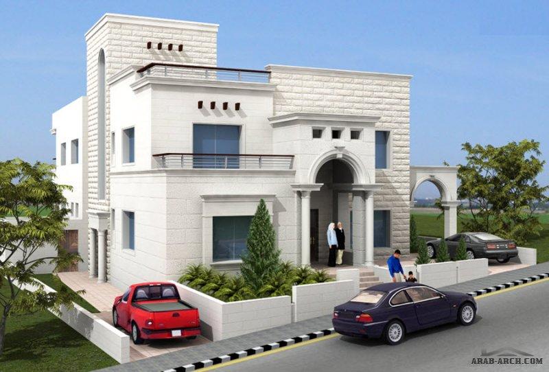 فيلا خاصة ابو نصير – عمان – الاردن .  مساحة  الارض 577 م2. من اعمال العمارة والبناء - مهندسون مستشارون تصميم.إشراف.إدارة مشاريع