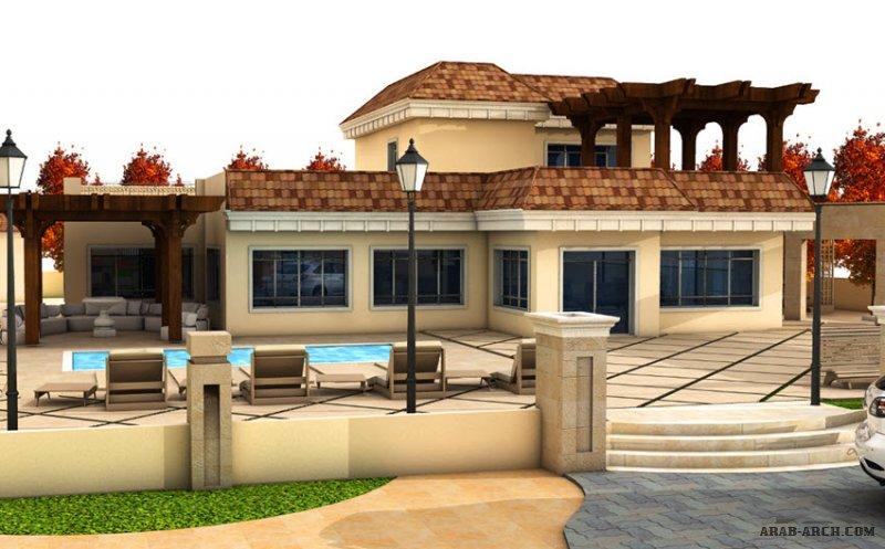 تصميم استراحة بيت ريفي بمزرعه خاصة جرش من اعمال التصميم المعماري التصميم الإنشائي إدارة المشاريع الإشراف الهندسي