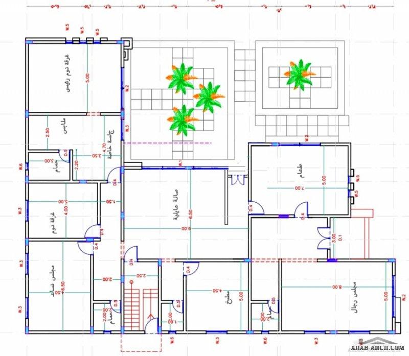 من أعمالنا فيلا دورين مع مجلس ارضي مشترك المهندسة سارَّة التميمي