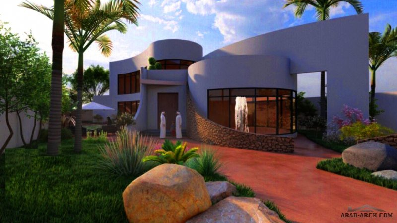 م.ثامر الغنيمي  من أعمالنا / تصميم استراحة خاصة الموقع / حائل مساحة الأرض / 1000 متر مربع