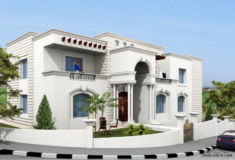 تصميم فيلا عمان الاردن  3 طوابق مسطح البناء 650 متر مربع من اعمال التصميم المعماري التصميم الإنشائي إدارة المشاريع الإشراف الهندسي