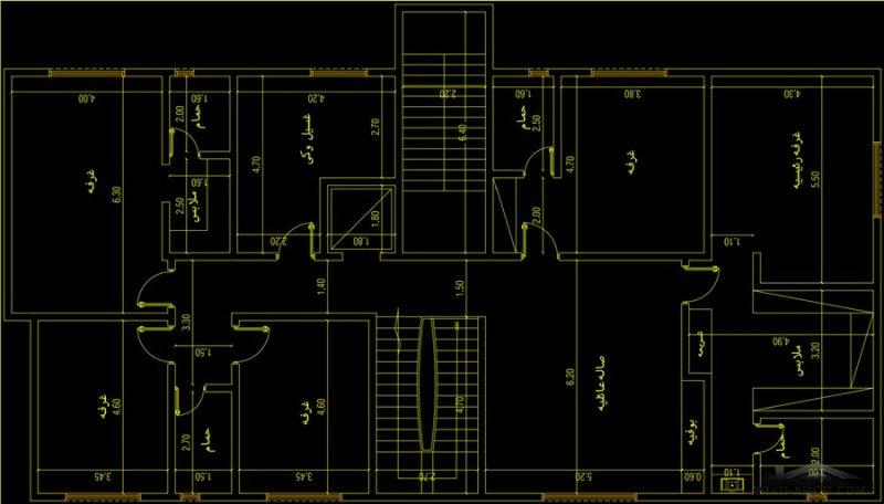 مخطط المساحه ٤٥٠  العرض  ١٥ *٣٠ متر  فله دورين وشقتين بالسطح مدخل خاص للشقق من مشاركات saadTmymy