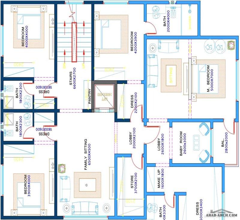 مخطط بيت العمر تصميم سعودي مساحة الأرض ٦٠٠ (٢٠*٣٠)  مساحة البناء ٦٨٥ متر مربع