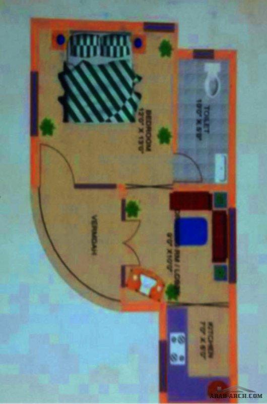 مخطط بيت المزرعه استراحة صغيرة بشكل رائع