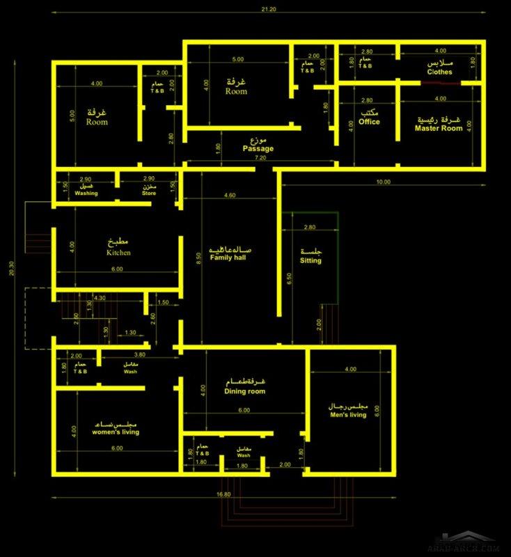 مخطط منزلي دور واحد من مشاركات sakora