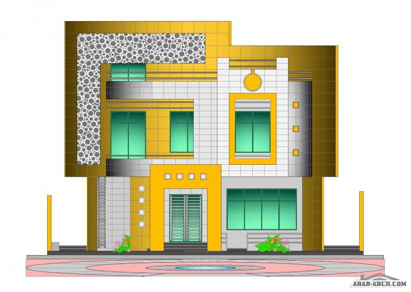 مخطط معماري و انشائي كامل فيلا بمساحة 512م2(32*16م) مكونة من قبو و أرضي وأول و ملحق - الملحق به المستوى الثاني لغرفة النوم + شقة سكنية