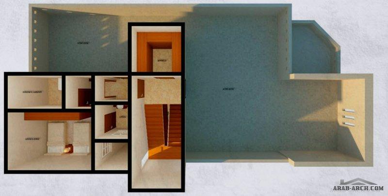 فلل الاوكيد - الخرج النموذج المودرن التصاميم المعمارية 2 مساحة ألارض: 420 م 2 مساحة البناء: 490 م من زوايا العقارية