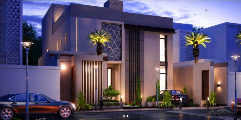 فيلا سكني التصميم النموذجي لمكتب سعد الحميداني من قبل المهندس سعد الحميداني شرفة B مساحة الأرض 375 متر مربع