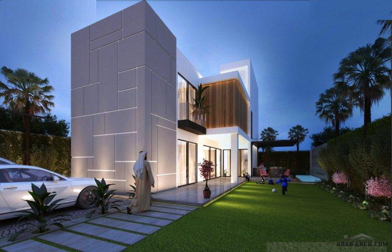 التصميم النموذجي الأول لمكتب اي كيو للمهندسين تركي الحصيني وإبراهيم القصير 375 متر مربع