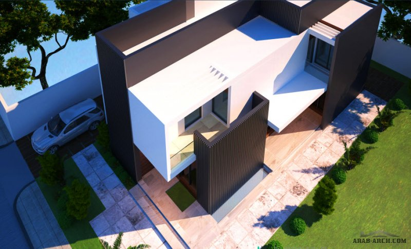 فيلا سكني التصميم النموذجي لمكتب الارين من المهندس محمد الغانم مساحة الأرض 375 متر مربع