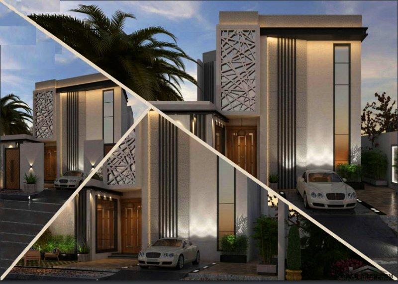 فيلا سكني التصميم النموذجي لمكتب سعد الحميداني من قبل المهندس سعد الحميداني شرفة A  مساحة الأرض 375 متر مربع