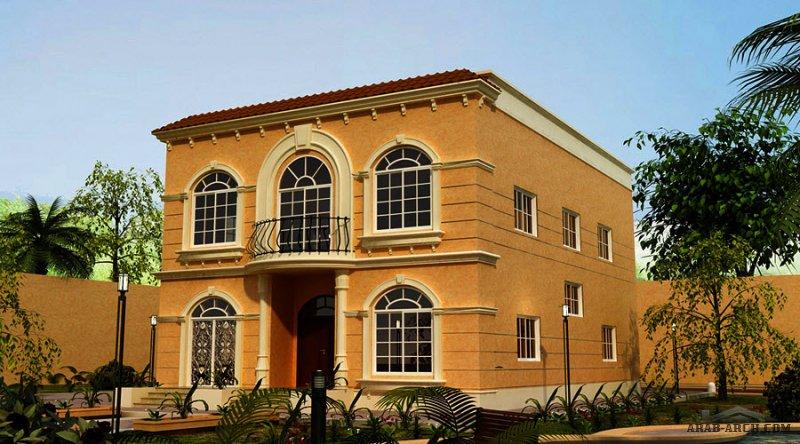 تصميم تقليدي غرف النوم 6 المساحة 455 متر مربع عدد الطوابق أرضي - أول أبعاد البيت 11.65 * 17.50 م