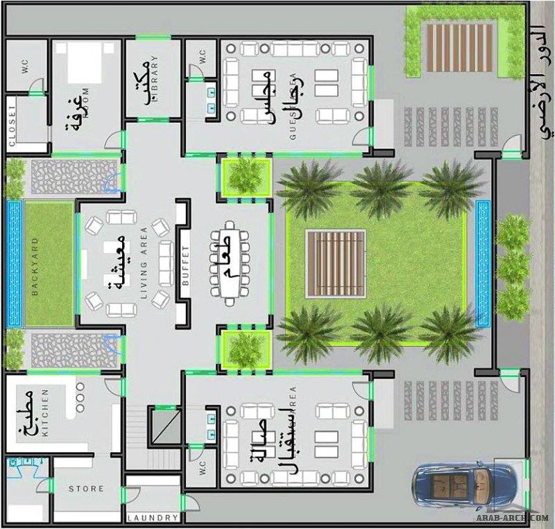 مخطط فيلا دورين مساحة الارض 30x30 مبادرة مساعد القفاري  مشاركة المعماري حسين باعيسى من حائل