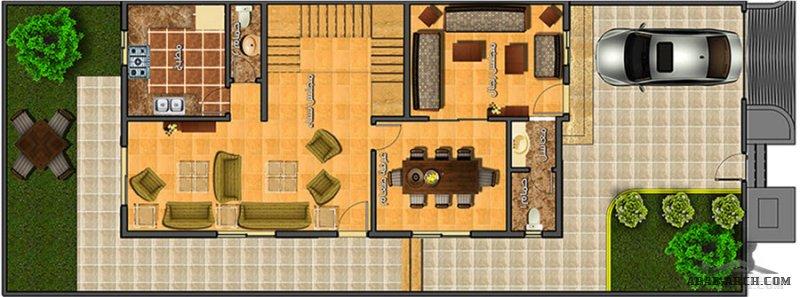 فيلا سكني نموذج  A منازل القطيف