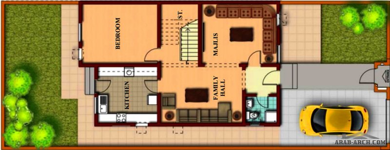تاون هاوس صغير المساحه 4 غرف نوم قابل للتعلية دور كامل